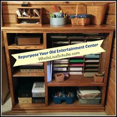 Entryway or mudroom organizer another use for those old for How to reuse an entertainment center