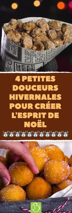 4 winter sweets for the Christmas mood. - astuces, biscuits, tartes et brioches - noel Christmas Mood, Christmas Treats, Christmas Desserts, Fancy Desserts, Fancy Cakes, Veggie Recipes, Dessert Recipes, Winter Treats, How To Make Cookies