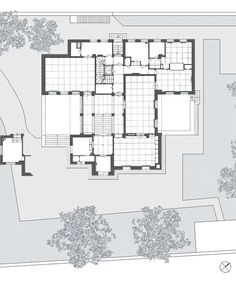 Ludwig Wittgenstein and Paul Englemann. Wittgenstein house, Viena, 1930. Ground floor plan.