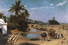 An Arab Caravan  -  Jean-Leon Gerome