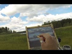 Acrylic Painting Demo In Real Time - Painting Clouds And A Lake Painting Clouds, Time Painting, Acrylic Painting Techniques, Painting Videos, Acrylic Paintings, Art Techniques, Acrylic Painting Tutorials, Bob Ross, Cloudy Day
