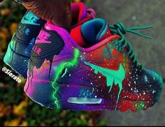 Top 10 air max 90 customs sneakerz page 5 shoes & boots zapatos nike, z Cute Nike Shoes, Cute Sneakers, Sneakers Nike, Jordan Shoes Girls, Girls Shoes, Shoes Women, Nike Shoes Air Force, Aesthetic Shoes, Fresh Shoes