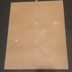 "Single Plastic canvas Needlepoint 7 mesh Coffee 13.75""x10.75"" Craft Fair Hobby #unbranded"