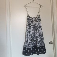 Cotton sundress Boho dress from Charlotte Russe. There is a hole in the back , I'm not sure if you can fix... But great dress for the beach! Charlotte Russe Dresses