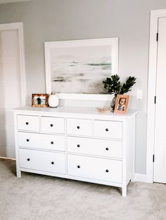 See our pages for a good deal more that is related to this stunning mix and match bedroom furniture White Bedroom Furniture, Bedroom Dressers, Home Bedroom, Bedroom Decor, Master Bedroom, Bedrooms, Ikea White Dresser, Ikea Dresser Hemnes, White Dressers