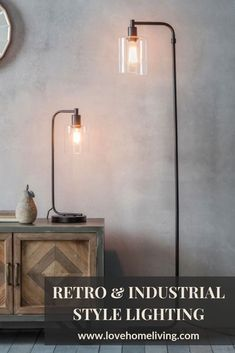 Our rustic industrial style Chicago table and floor lamp, perfect for the home office, living room or bedroom. Click through to see more of our industrial lighting range Chicago Floor Lamp Dimensions (width) (depth) (height) Industrial Style Lighting, Industrial Light Fixtures, Rustic Lighting, Rustic Industrial, Industrial Style Bedroom, Industrial Floor Lamps, Chicago, Lamp Makeover, Rustic Bathroom Decor