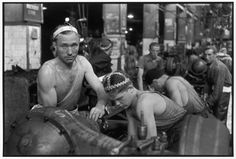 USSR. Moscow. 1954. Zis factory. The trucks production. by Henri Cartier-Bresson
