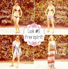 Summer Vacation Essentials. Look 5: Free Spirit via Blonder Ambitions {www.blonderambitions.com}. fashion. style. bikini. jean shorts. tie dye. maxi dress.