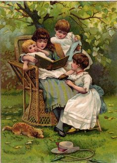 "little readers **  "" All right now children....once more....sit still...stop wiggling....which one do you want to hear again?""...."