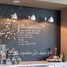 Kitchen Chalkboard Backsplash, Transitional, kitchen, Urban Electric Co.
