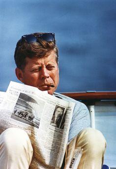 Mr. President. Reading the news.