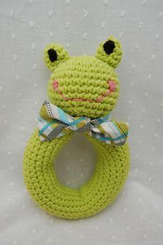 crochet baby rattle by emilylbaum on Etsy, $20.00