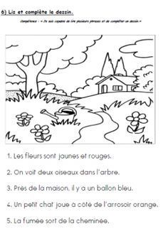 Easy and fun comprehension activity French Worksheets, 1st Grade Worksheets, Read In French, Learn French, French Teacher, Teaching French, Grade 1 Reading, Reading Comprehension, Comprehension Activities
