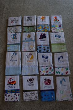 Quilting for Beginners – 5 Part Series - Abundator Embroidery Monogram, Embroidery Applique, Embroidery Patterns, Brother Embroidery, Baby Sewing Projects, Sewing Crafts, Burp Cloth Tutorial, Burp Cloth Patterns, Burp Rags