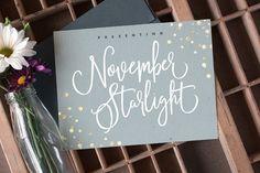 November Starlight Font by Sam Parrett on @creativemarket