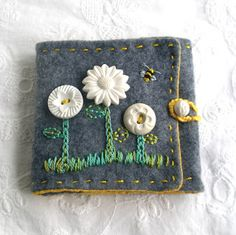 vintage buttons on recycled wool with stitching fiberluscious: Gallery