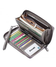 Wallet fashion styles Women RFID Blocking Wallet Genuine Leather Zip Around Clutch Large Travel Purse . Women RFID Blocking Wallet Genuine Leather Zip Around Clutch Large Travel Purse - Gray - Rfid Blocking Wallet, Rfid Wallet, Clutch Wallet, Leather Wallet, Cheap Purses, Purses For Sale, Handbags On Sale, Purses And Handbags, Popular Purses