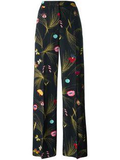 Fendi Floral Print Trousers - Farfetch