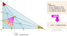 Geometry Problem Triangle 1115, Right Triangle, Angle Trisection, Equilateral Triangle