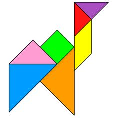 Tangram Camel - Tangram solution #37 - Providing teachers and pupils with tangram puzzle activities