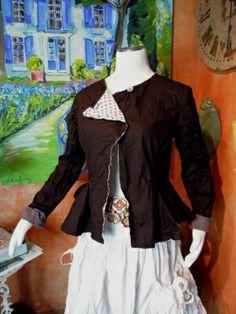 Ewa i Walla, Jacke / Jacket aus Baumwolle / cotton 66184, Farben ash, blue und schwarz / black