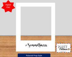 Personalizzato Polaroid Frame Photo Booth Prop Instagram Prop (solo File digitale)