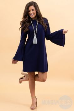 Soak in The Stars Dress in Navy Monday Dress, Marley Lilly, Monogram Gifts, Cold Shoulder Dress, Unique, Stars, Dresses, Women, Fashion