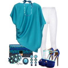 Blues & teals, love that clutch