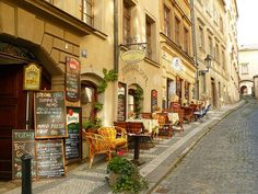 "Sidewalk: Prague, not just a ""Bucket List"" item but the desire to see where my family came from."