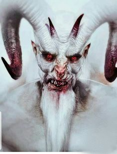 "Krampus character design by Amro Attia for ""A Christmas Horror Story"" via Dark Fantasy Art, Fantasy Kunst, Arte Horror, Horror Art, Art Macabre, Art Sinistre, Portraits Illustrés, Satanic Art, Evil Art"