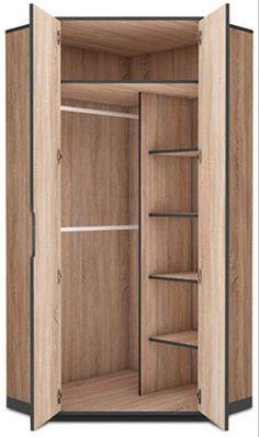 Delta Corner Wardrobe This 2 door Corner Wardrobe offers ample storage space and is an ideal solution for small rooms Fast Free Delivery with 5 to 7 days. Corner Wardrobe Closet, Wardrobe Design Bedroom, Diy Wardrobe, Wardrobe Storage, Closet Bedroom, Clothes Storage, Small Bedroom With Wardrobe, Wardrobes For Bedrooms, Closet Ideas For Small Spaces Bedroom