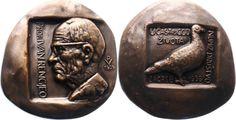 Rengjeo, Ivan (1884-1962), professor, numismatist from Zagreb; medal 1959