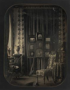 [The Salon of Baron Gros] Jean-Baptiste-Louis Gros  (French, 1793–1870) Date: 1850–57 Medium: Daguerreotype