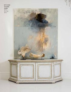 Tara Shaw Maison 2013 Love the abstract art with the beautiful console