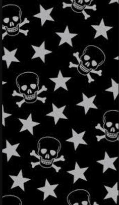 Skulls with stars