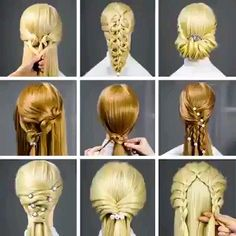 Erstaunliche Frisuren Techniken ♥ ️ New Hair Cut new haircut techniques Up Hairstyles, Braided Hairstyles, Amazing Hairstyles, Popular Hairstyles, Stylish Hairstyles, Easy Hairstyles For Everyday, Fast Easy Hairstyles, Pretty Hairstyles, Curly Hair Styles