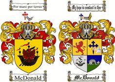 McDonald Coat of Arms / McDonald Family Crest