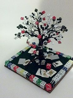 Hey, I found this really awesome Etsy listing at https://www.etsy.com/listing/205691119/poker-tree
