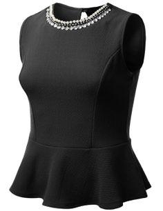 Amazon.com: J.TOMSON PLUS Womens Peplum Top Plus Size: Clothing