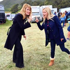 "71k Likes, 330 Comments - Reese Witherspoon (@reesewitherspoon) on Instagram: ""Proof that #BlondesHaveMoreFun 🙆🏼 Goofing around on set with my girl @lauradern 😉 #BigLittleLies…"""