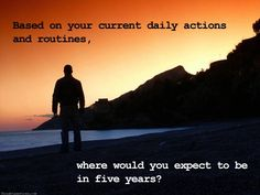Do still you see yourself where you are right now in five years? Comment your answers.