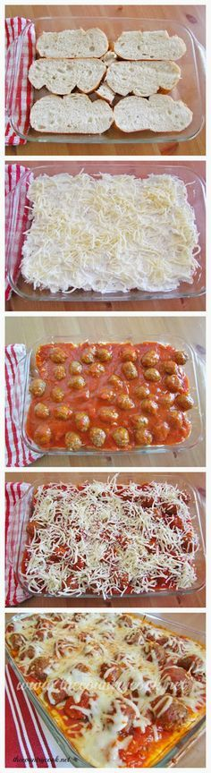 Meatball Sub Casserole. The post Meatball sub casserole appeared first on Recipes. I Love Food, Good Food, Yummy Food, Delicious Recipes, Meatball Sub Casserole, Meatball Subs, Meatball Dish, Meatball Bake, Beef Recipes