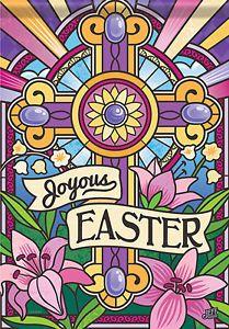 Joyous Easter Garden Flag - x - 2 Sided Message Resurrection Day, Easter Garden, Small Flags, Easter Cross, Outdoor Flags, He Is Risen, House Flags, Bible Art, Garden Flags