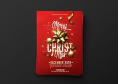 Christmas Graphics | Creative template, available on Envatomarket • All Elements Included • A5 Format (( 6×8.4 inches with bleeds ) • 300dpi CMYK Print Ready. Flyer / Affiche / Poster Download Available.