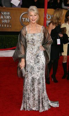 Dame Helen Mirren.   Elegantly dressed at all times.  Image source: fabulousafter40.com
