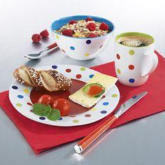 maxxcuisine MELAMIN Frühstücksset Kunterbunt kompletes Set für eine Person | eBay