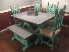 Excited to share the latest addition to my shop: Custom Farmhouse Dining Table Sets Farmhouse Dining Table Set, Farmhouse Furniture, Farmhouse Decor, End Tables, Rustic, Etsy Shop, Home Decor, Country Primitive, Mesas