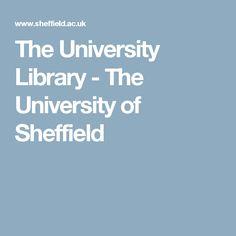 The University Library -  The University of Sheffield