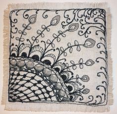 quilted zentangle 001 by isleofskyelorry, via Flickr