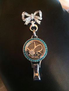 Our new lanyard locket on our bridal clasp. Gorgeous, isn't it? #origamiowl
